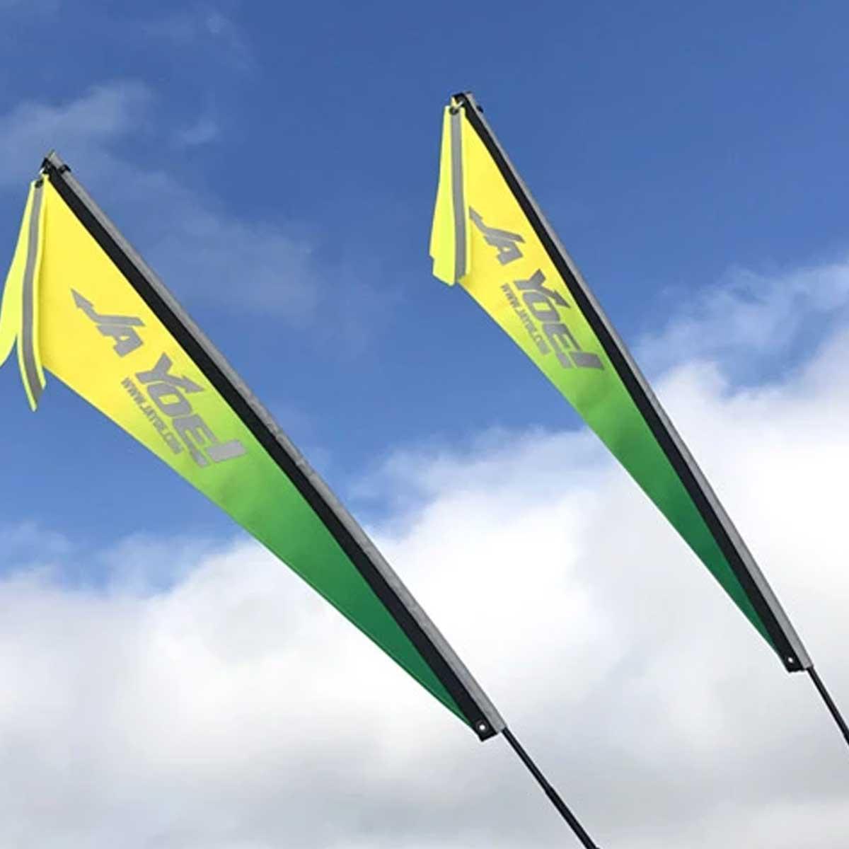 SIDE MOUNT SAFETY FLAG SAFETY FLAG 2 PIECE FIBER POLE